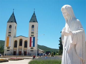 chiesa e madonna di medjugorje
