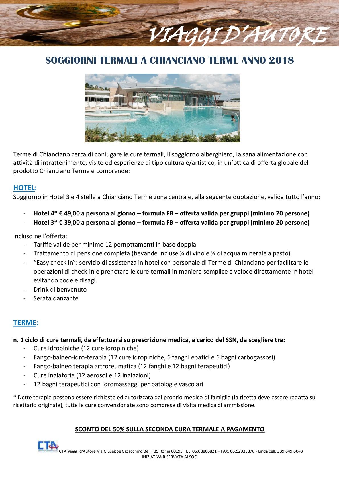 IT481 – Soggiorni Termali a Chianciano Terme | Turismo senza età