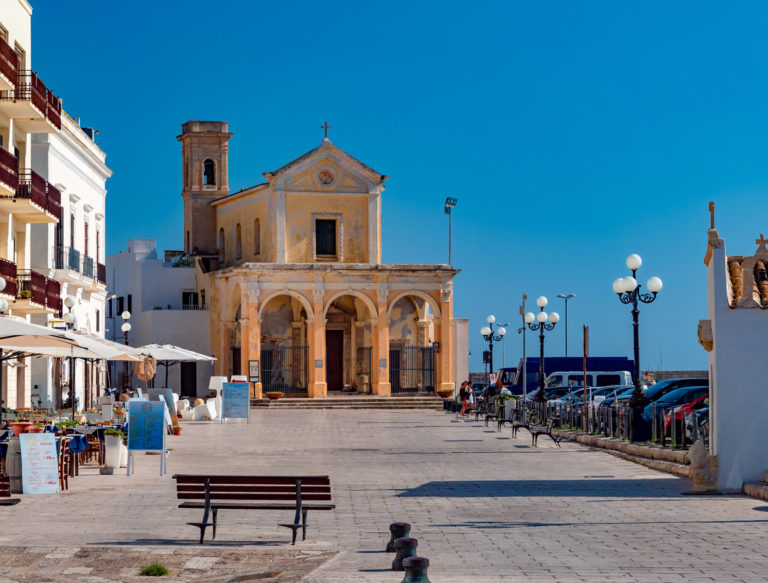 Santa Maria del Canneto church in Gallipoli, religious landmark architecture of the city in Italy